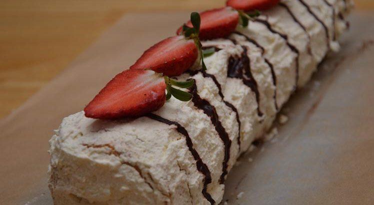 Koekjes slagroom taart